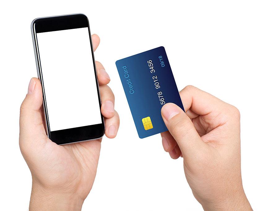 Handy Kreditkarte